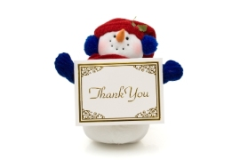 Snowman-Holding-A-Thank-You